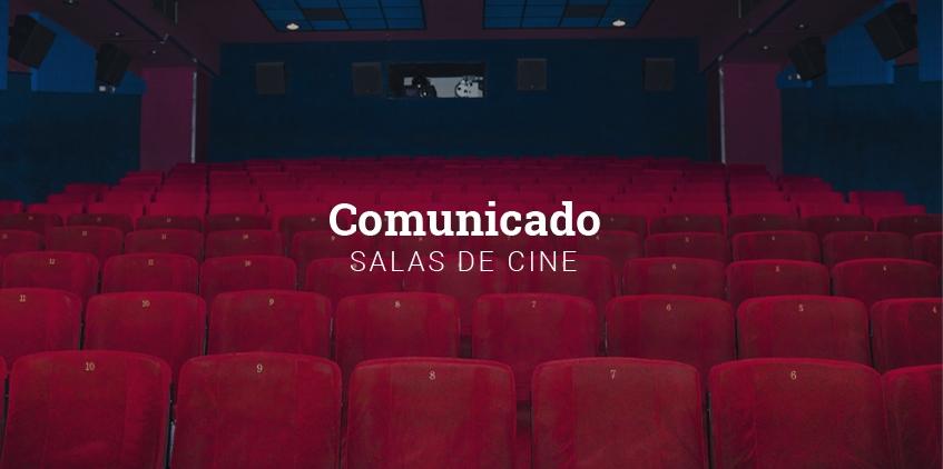 Comunicado de las salas de cine