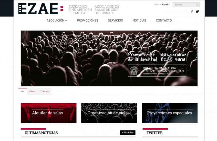 Pantallazo web EZAE