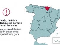 Euskadi, única comunidad autónoma que no permite consumir en los cines